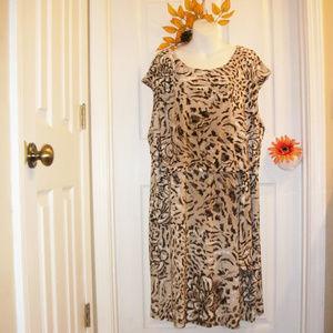 DANA BUCHMAN 3X Sleeveless Dress